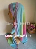 m2030 wholesale single jersey gradient ramp hot sale 165cm*55cm scarf islamic hijab turban