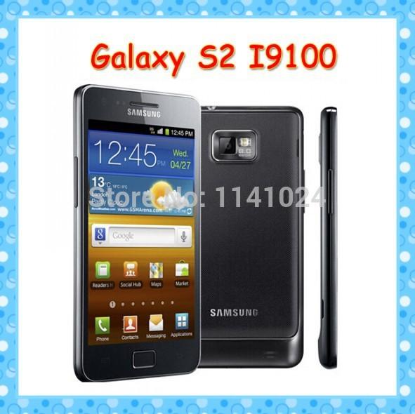 i9100 Unlocked Original samsung GALAXY SII S2 I9100 cell phone Android 2.3 Wi-Fi GPS 8.0MP Dual Core 4.3''(China (Mainland))