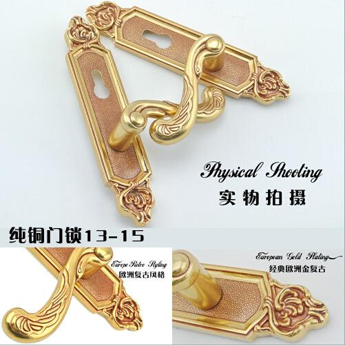 Villa copper door lock Interior room door & door lock(China (Mainland))