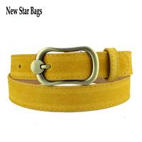 2015 new women genuine leather belts for women female strap metal pin buckle belt free shipping.TS15E