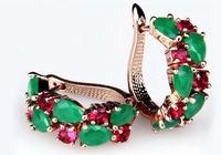 Fashion Jewelry 18K Rose Gold Plated Mona lisa Multicolor Crystal AAA+ Zirconia & CZ Diamond Women Stud Earrings