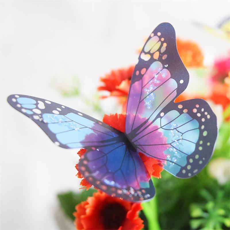 18Pcs/lot Butterflies 3d Wall Stickers PVC Removable Decors Art DIY Decorations fridge magnet wedding Christmas decorations(China (Mainland))