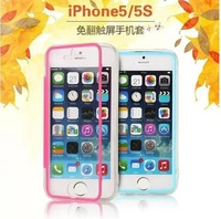 10pcs/lot 2015 fasion transparent clear Soft cover for iPhone 5 case Mobile Phone Bags TPU case For apple iphone 5s capa