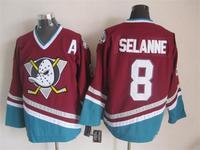 2015 New Anaheim Ducks Jerseys Ice Hockey Jersey Embroidery Mix Orders #8 Teemu Selanne Red CCM Vintage jersey1457