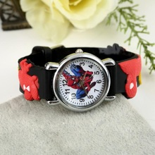 1pcs Cute Cartoon 3D Sports Watch Fashion Red Spiderman Child Wrist Watch Children Watch Gift Wholesale