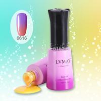 12pcs DHL New Arrivel Soak off color changeable gel nail gel,uv color change nail gel, free shipping