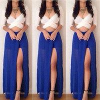 Women New 2015 Spring Summer Dresses Blue Chiffon Casual Dress Ladies Plus Size Chiffon Dress Fashion Party Vestidos Femininos