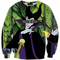 Sws0139  New Arrivai Europe Hot Digital Printing Snow White Witch O-Neck Pullover Hoodies Sweatshirts 3D