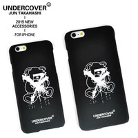 2015 Luxury Japanese Brand Undercover U Design Letter case hard plastic cover For Apple iPhone 6 4.7/5.5 inch,free shipping