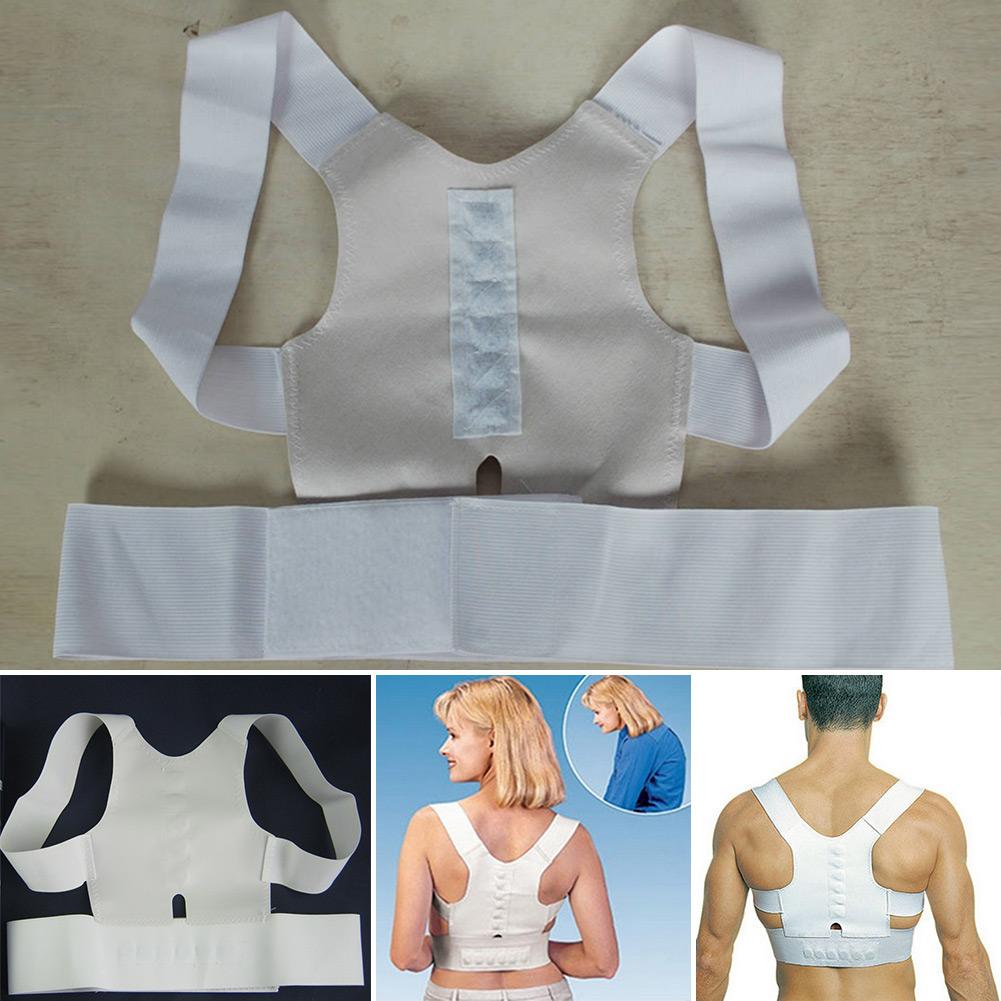 Magnetic Back Shoulder Posture Corrector Back Support Straighten out Brace Belt Orthopaedic Adjustable Unisex Gift Health(China (Mainland))