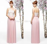 2014 Vestido De Renda Fashionable Evening Dresses A-line Floor-length Sexy Sweep Train Off The Shoulder With Chiffon_bridalk