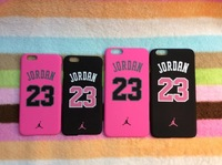 MOQ 1pcs Air Jordan No.23 Pink and black Color Cover For Apple iphone 6 4.7/5.5 inch,jordan's Phone Case,Free Shipping