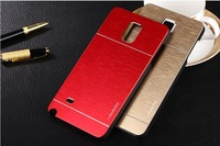 Newest Luxury Aluminum Slim Metal Case For Samsung Galaxy Note4  Brush Motomo Phone Back Cover Case free shipping