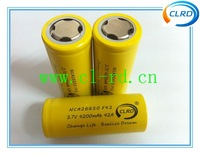 Free shipping 5pcs 26650 high drain e-cig mod replacement battery 4200mah 42amp NCA26650 for hades mod
