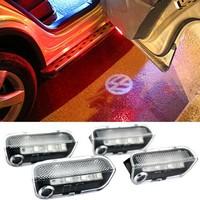 Volkswagen VW Passat CC OEM LED Door Warning Light With VW Logo Projector+ Cable Kit