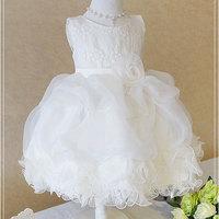 1pc Retail NEW 2015 Summer Children girl rose dress Elegant dress party baby girl princess TUTU dress Bridesmaids clothing