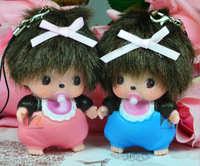 2015 new Monchhichi Applicable to drill car accessories Key chain toys Car accessories free shipping