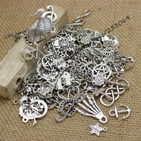 Mixed Antique silver Plated European Bracelets Charm Pendants Fashion Jewelry Making Findings DIY Floating Charms Handmade 0126