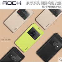 Original Rock Touch Series Smart Window Flip PU Leather Case For Huawei Honor 6 Plus 6X ,10pcs/lot Free shipping