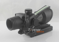 Airsoft Trijicon Replica ACOG Type 1x32 green Dot Sight Gun Scope with Dummy Fiber Cable, HD-2C (Real green fiber with battery)