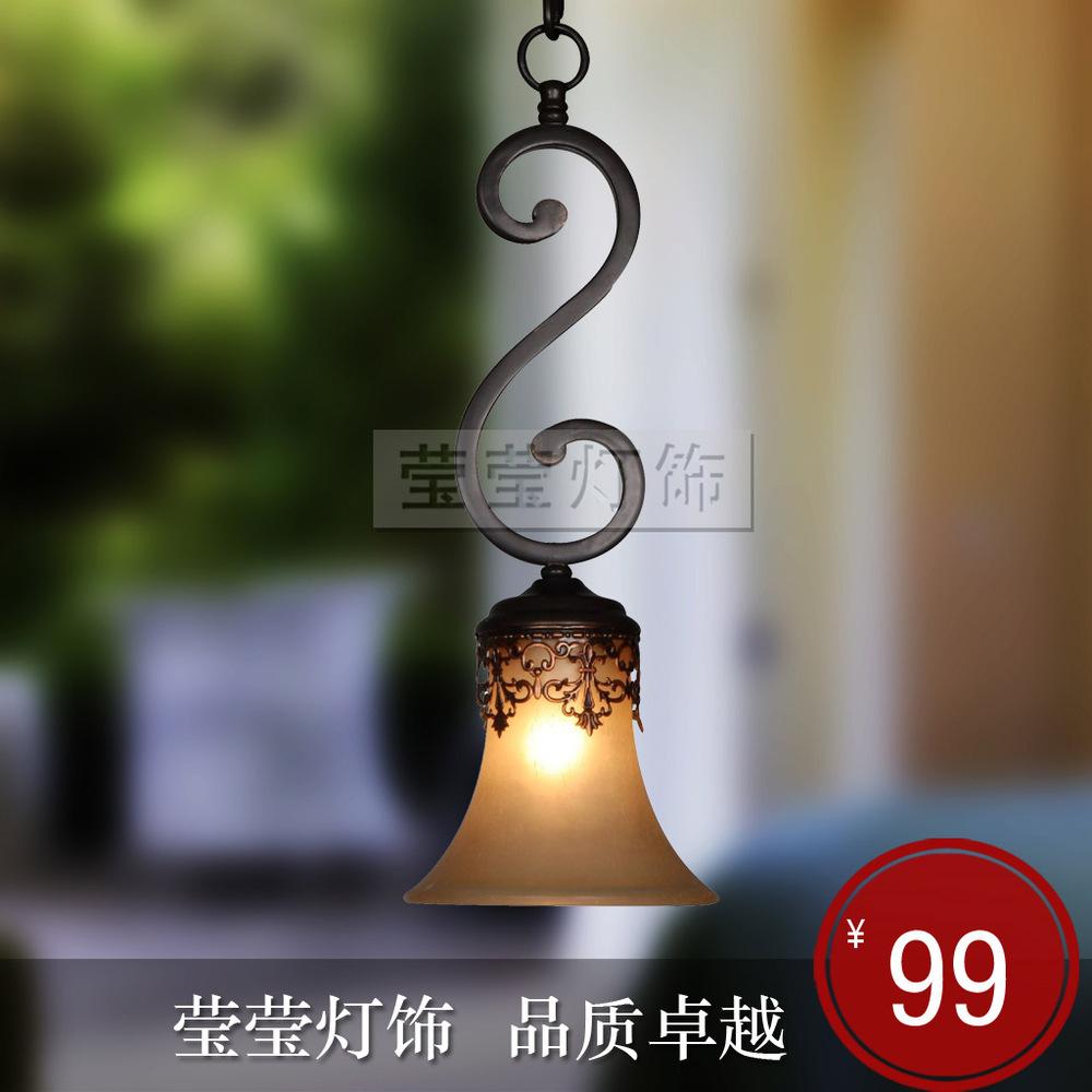 Pendant lighting Yingying Anjou European American Iron porch balcony bar dining table kitchen sink(China (Mainland))