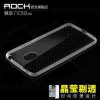 "1pc Original Rock Brand Super Flexible Clear Case Meizu M1 Note Crystal Simple Back Shell Pure Soft cover Noblue Note 5.5"""