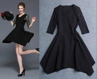 2015 New Women's European and American Fashion Personality, Big Brand Quality, Lace Slim Dress,Lady/Women dresses