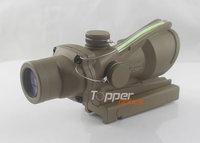 Airsoft Trijicon 4x32 ACOG TA31 Type Cross Sight Scope Riflescope with Fiber & Quick Detach 11,GL 4x32C brown (Real green fiber)