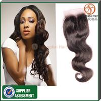 Lace Closure Brazilian Virgin Hair Body Wave 4x4 Queen Hair Top Closure 7A  DHL Free Shipping