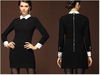 Hot New Slim lapel Dress fit OL  vestidos Elgance turn down collar  dress 9452