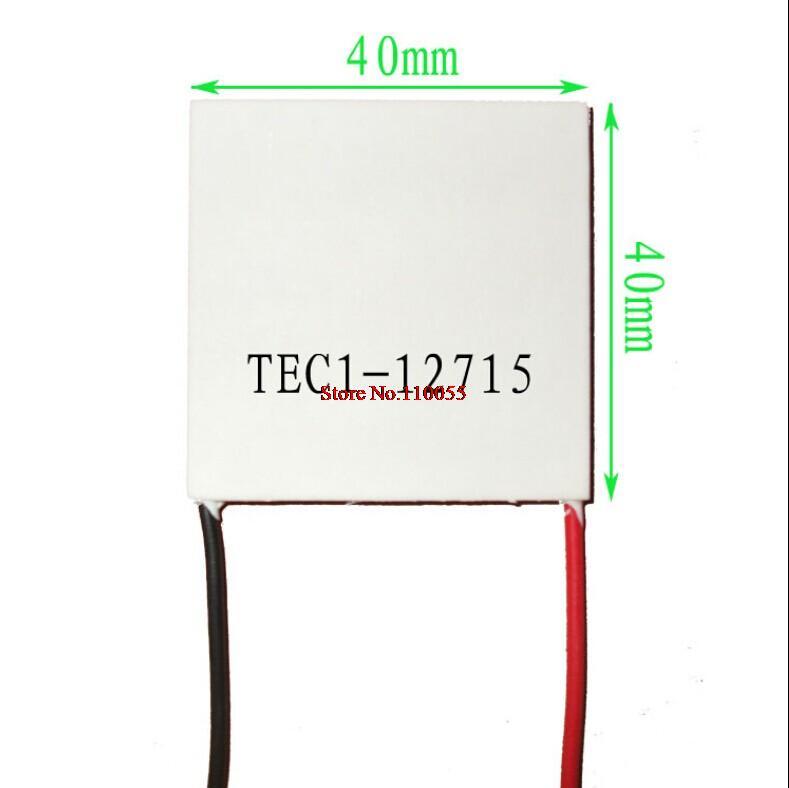 5pcs/lot TEC1-12715 Heatsink Thermoelectric Cooler Cooling Peltier Plate Module(China (Mainland))