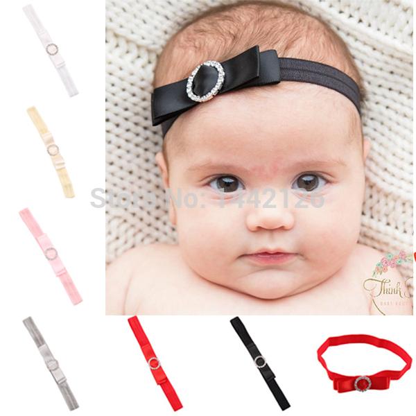 Baby Girls Fashion Hair Accessory Tiara New Hot Sale Bowknot Style Headband with Rhinestone Bow Hairband with Diamond(China (Mainland))