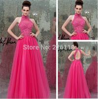 2014 New Arrival Sale Hot Organza Off The Shoulder Vestido De Festa Longo Sa3813 Brilliant Neck Evening Dress 2014_bridalk