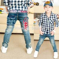 2015 Autumn Children Jeans Boy Fishbone Jeans Long Pant #6021 Kids Clothes Free Shipping 5 PCS