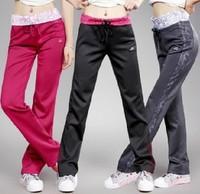 2014 women's sports pants trousers pants straight pants slim trousers fitness yoga pant