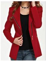 2015 New Design women's short winter jacket zipper jackets female coat woman's long-sleeve clothing outwear plu S-XXL