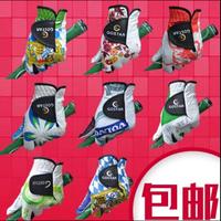 Free shipping wholesale10pairs/lot fashion golf gloves print women / men's golf gloves