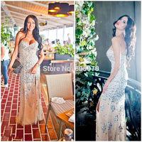 2014 Real Sale Mother Of The Bride Dresses Vestido De Renda 322014 Dazzling Vestidos Crystals Evening Dress Prom Slit21_bridalk