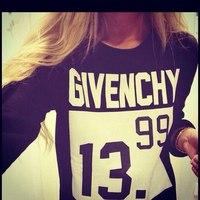 women sport tracksuits sweatshirts 2015 fashion letter 13.99 print hoodie moleton feminino black white