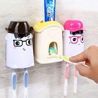 Love apartment Automatic Squeezing toothpaste Kit Creative cartoon Toothpaste squeezer Toothbrush holder Free with Free shipping