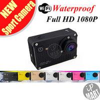 FREE SHIPPING! S30 Sport Camera Wifi Action Camcorder Sport DV FULL HD 1080P Helmet DVR Waterproof 30M Mini DV 7 colors option