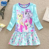 5Pcs/lots My little pony Baby Girls dress New 2015 summer girls dresses,Girls my little pony dress, Children Kids Bow Dress