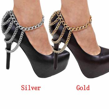 Лучшее предложение сексуальные женщины тон 3 ряда(ов) Drapped цепи ножной браслет ...
