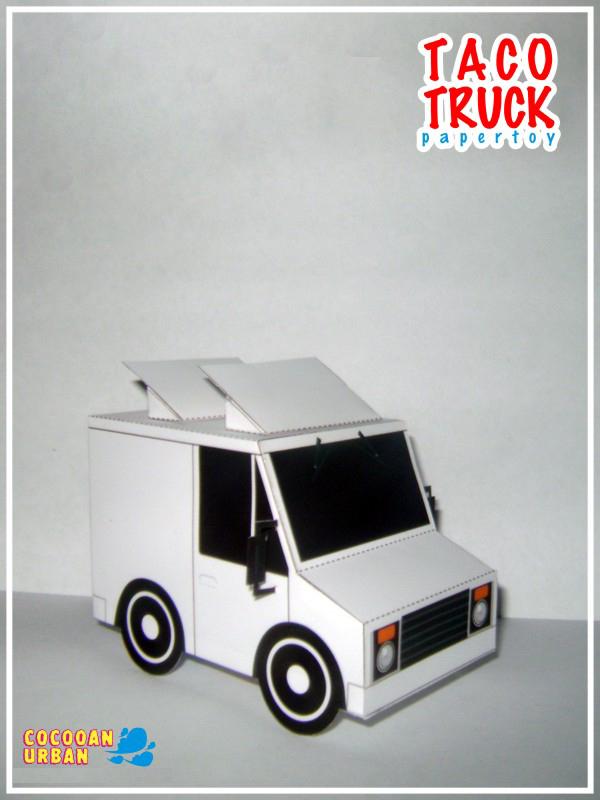 [2015 new fun toys] Q version of cartoon truck 03 paper model(China (Mainland))
