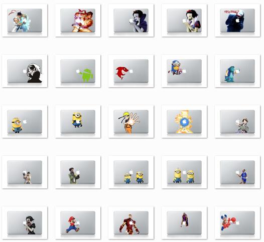 453 patterns For Macbook Sticker Vinyl decal Laptop skin sticker newest mix order for MacBook Air pro(China (Mainland))