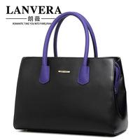 Korean color block 2014 handbag new arrival women's bag fashion luxury bag messenger bag free shipping