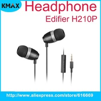 Hot Sale Free Shipping Edifier H210P Hi-Fi In-ear 3.5mm Stereo Headphone with Mic and Remote For Most Cell Phones