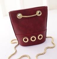2015 New handbag Korean fashion chain wave package foreign trade fashion ladies bag bucket shoulder bag women bag wholesale