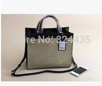 DA351 New2015 fashion  Serpentine PU Leather Patchwork hasp handbag shouder bag wholesale drop shipping free shipping