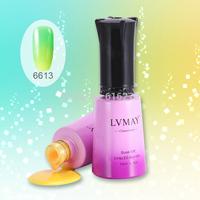 12pcs New Arrivel Soak off uv nail color changeable gel nail gel,  Soak Off LED & UV Gel Nail Polish LACQUER set LVMAY
